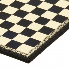 Chess Board Leatherette ivory and blu inserted by hand
