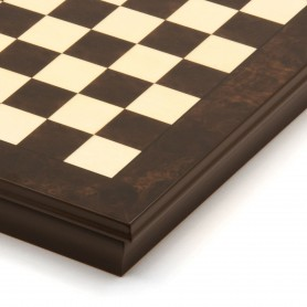 Chessboard box Inlaid walnut and maple Wood Natural Polished