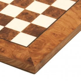 Chessboard in elm root natural polished