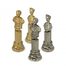 Imperial Rome chess pieces in hand-crafted zamak metal