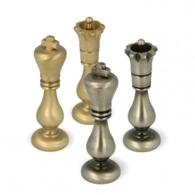 Classic chess pieces model Staunton in full brass metal turned and finished by hand