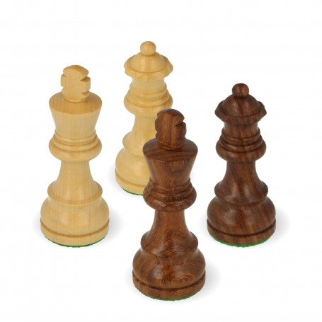 Classic Staunton chess pieces in rosewood