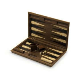 Backgammon in hand carved wood