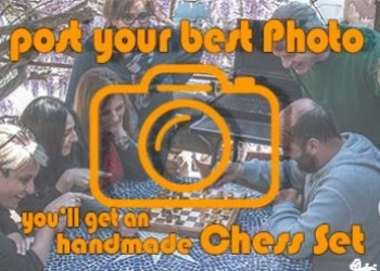 Send us a picture and win an handmade chess set!